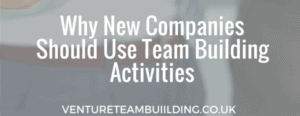Why new companies should use team building activities