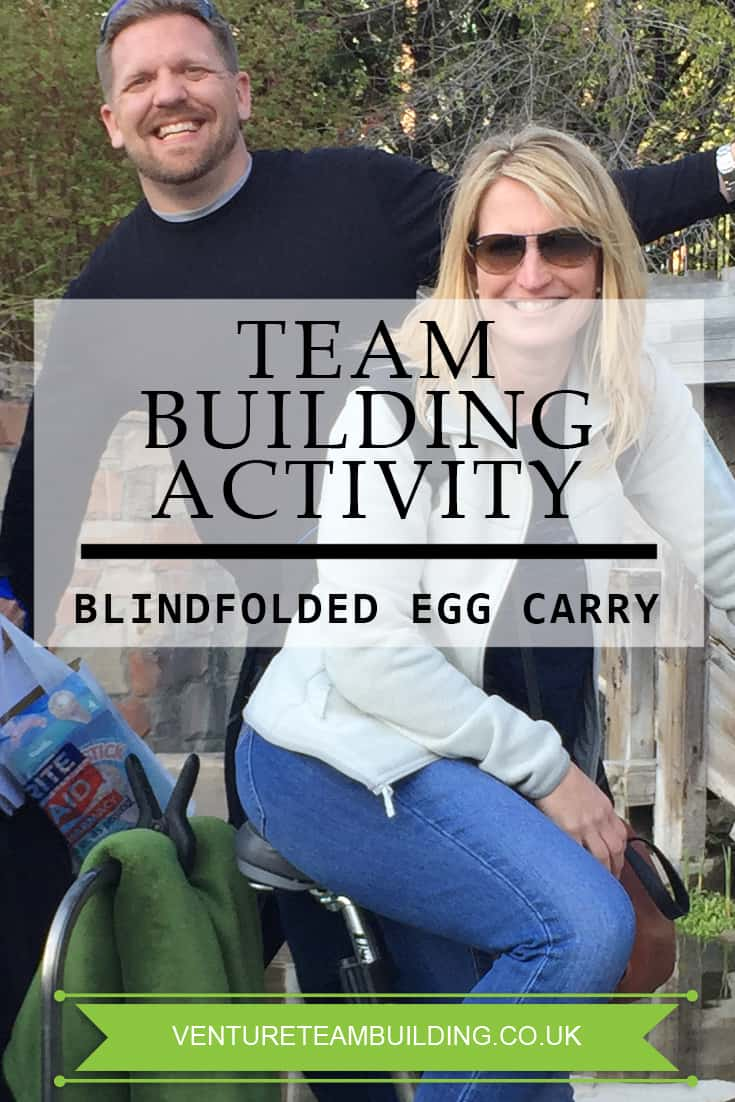 Team Building Activity Blindfolded Egg Carry