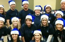 Picture of a Christmas Team Building Activity with Santa Helper's